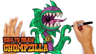 getlinkyoutube.com-How to Draw Chompzilla (PvZ)- Kids Art Lesson