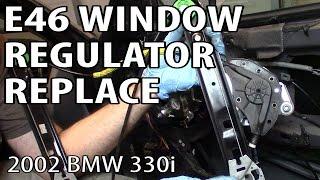 getlinkyoutube.com-BMW 330i 325i E46 Window Regulator Replacement