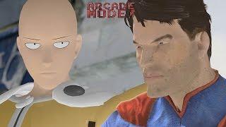 getlinkyoutube.com-SAITAMA (ONE PUNCH MAN) vs. SUPERMAN | ARCADE MODE! [EPISODE 3]