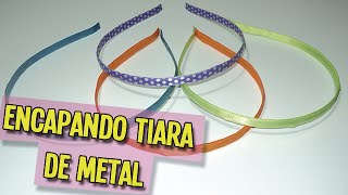 getlinkyoutube.com-Como encapar tiara de metal | DIY - PAP