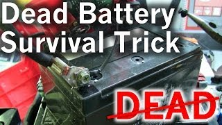 getlinkyoutube.com-A Little Survival Trick to Revive Your Dead Lead Acid Battery for Free