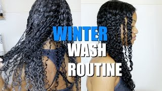 getlinkyoutube.com-Winter Wash Day Routine on Natural Curly  Hair|(DETAILED start to finish)