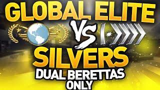 getlinkyoutube.com-CS GO - Global Elite VS Silvers - Dual Berettas Only!
