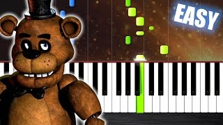 getlinkyoutube.com-Five Nights at Freddy's Song - EASY Piano Tutorial by PlutaX - Synthesia