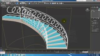 Spiral Stair 3Ds max 2014