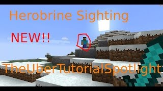 Herobrine Sighting |No Mods| 100% Real