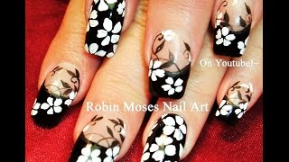 getlinkyoutube.com-Flower Nails! DIY Black and White Flower Nail Art Design Tutorial