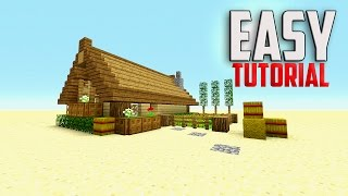 getlinkyoutube.com-how to build a house in minecraft - wooden house ( vanilla )
