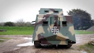 getlinkyoutube.com-The A7V - German WWI replica tank