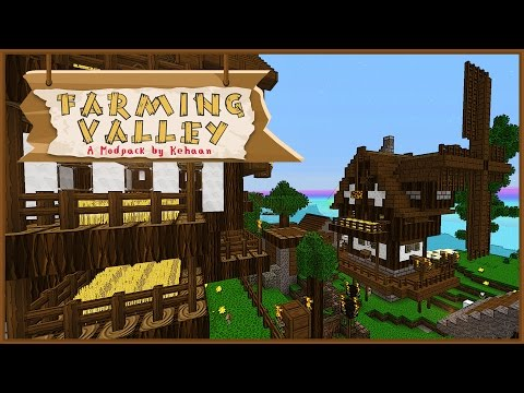 Minecraft Farming Valley - Villages: What Do They Have? Do They Have Things? Let's find Out! #6