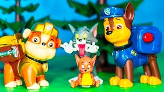 getlinkyoutube.com-PAW PATROL Nickelodeon Paw Patrol with Tom & Jerry Toysl Video Parody