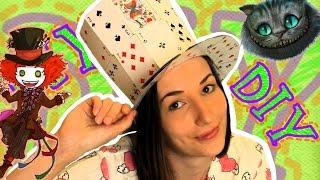 getlinkyoutube.com-♣ DIY ♣ ШЛЯПА ИЗ КАРТ ♣ Для маскарада на Хэллоуин, Новый Год, другую вечеринку | Anna PurEnergy