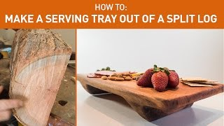 getlinkyoutube.com-Turn a split log into a serving tray