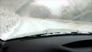 WRXで流す雪の六甲山