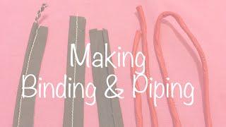 getlinkyoutube.com-♥ How to make Bias Binding, Piping and Dori ☁