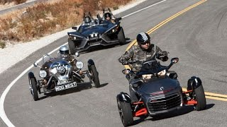 getlinkyoutube.com-Is This A Motorcycle Shootout? Polaris Slingshot vs. Can-Am Spyder F3 vs. Morgan 3 Wheeler
