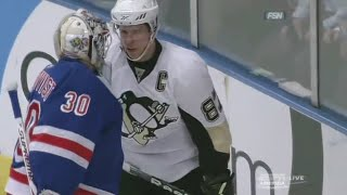 getlinkyoutube.com-Henrik Lundqvist confronts Sidney Crosby | 03/04/2010 [HD]