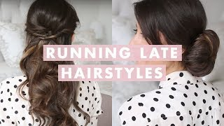 getlinkyoutube.com-Running Late Hairstyles