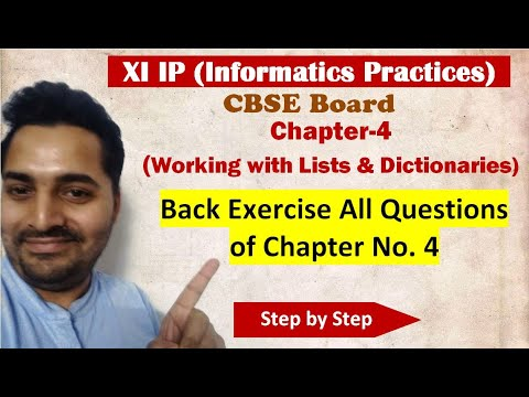 Class 11 IP | # 17 | Ch-4 Back Exercise| CBSE Board