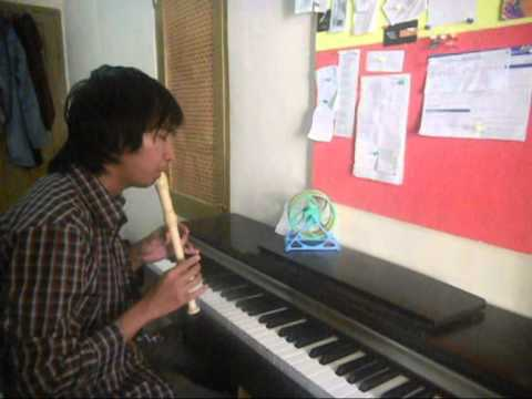 Tinggal Kenangan - Gaby Piano and Recorder version with My Girl and I Korean Movie Scenes