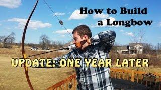 getlinkyoutube.com-Shooting Homemade Longbow - One Year Later