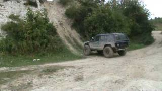 getlinkyoutube.com-jeep Cherokee XJ off road Devils Pit hill climb rock crawl extreme fun