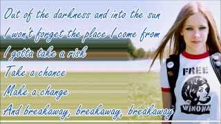 getlinkyoutube.com-Avril Lavigne - Breakaway (Lyric Video)