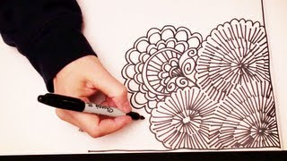 getlinkyoutube.com-ASMR Doodling (Quality sound, ASMR drawn in real time, Doodling, Zentangle, No Speaking, YouTube)
