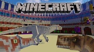 getlinkyoutube.com-Indominus Rex Vs Spinosaurus Vs Tyrannosaurus| Minecraft Dinosaur battles