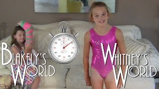 60 Second Leotard Challenge | Whitney and Blakely