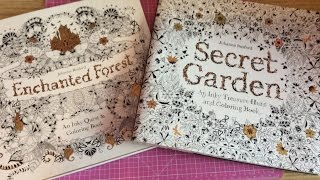 getlinkyoutube.com-Crafty Share From Chapters Adult Colouring Books Secret Garden & Enchanted Forest