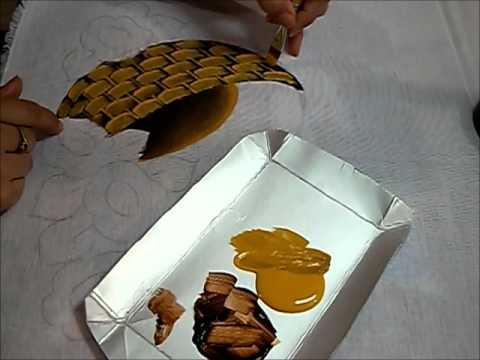 PINTURA EM TECIDO - Cesto com margaridas - Como pintar cestos
