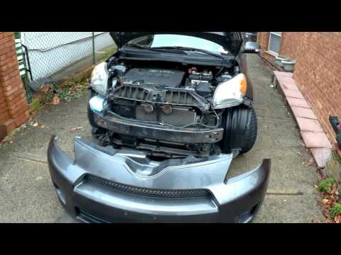 How to remove replace Front bumper cover scion XD 08 13