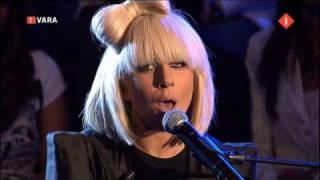 Lady GaGa performing Pokerface live Mooi weer de leeuw (dutch tv show)