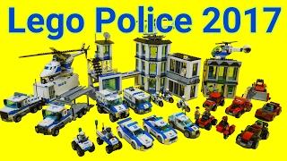 getlinkyoutube.com-Lego Police car Toys 2017 : 60135 - 60143 (All) Time Lapse Stopmotion Build