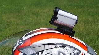 getlinkyoutube.com-Sony Action Cam - Helmet Attachment