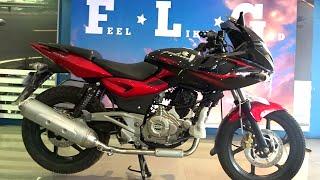 getlinkyoutube.com-#Bikes@Dinos: Bajaj Pulsar 220F DTSi Review, Exhaust Note (Walkaround Red and Black colours)