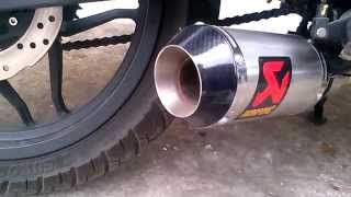 getlinkyoutube.com-Kawasaki rouser pulsar 200 ns akrapovic gpm1 slip on by Jualknalpot