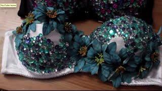 getlinkyoutube.com-EDC DIY| Flower RhineStone Bra Top