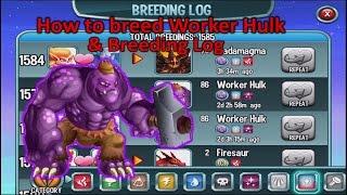 getlinkyoutube.com-Monster Legends - How to breed Worker Hulk + Breeding Log