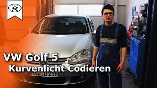 VW Golf 5 Abbiegelicht / Kurvenlicht Codieren   |  cornering encoding  | VitjaWolf | Tutorial | HD