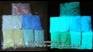 getlinkyoutube.com-Glow in the Dark Rocks Glass Aggregate in Concrete Countertop