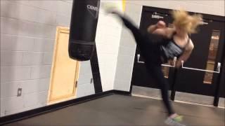getlinkyoutube.com-Practicing jumping spin kicks Taekwondo