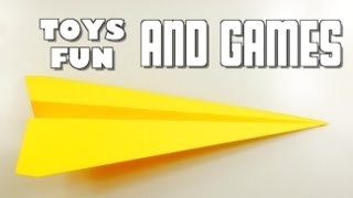 How to make Paper Airplanes that fly far and straight - Easy, Simple, Basic Plane