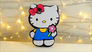 getlinkyoutube.com-TUTORIAL funda de movil celular de hello kitty de goma eva o foamy Manualidades faciles | Isa ❤️