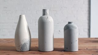 getlinkyoutube.com-DIY Concrete Vase