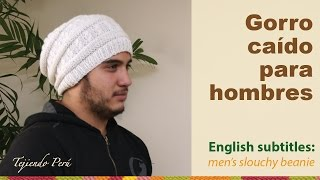 getlinkyoutube.com-Gorro caído para hombres / English subtitles: men's slouchy beanie