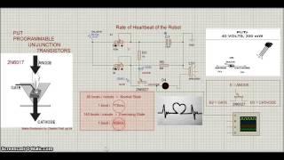 getlinkyoutube.com-Proteus - 2N6027 PUT Transistor - Robot Heart Circuit