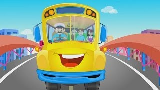 The Wheels On The Bus Go Round and Round  | NEW VERSION | Nursery Rhymes | HD Version