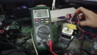 Arduinoを使ってステッピングモータを制御してみる(レーザー加工機、CNC)